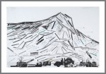 UPON THIS ROCK (Mt. St. Victoire), 2009. CD Stickers on Paper. 38 inches x 58 inches.