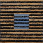 Kevin Teare, Base On Balls, 1977. Oil On Lattice And Mortar, 55 X 55 inches.