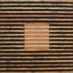 Kevin Teare, Fielder's Choice, 1977. Oil On Lattice And Mortar, 78 X 78 inches.