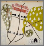 Kevin Teare, Agincourt, 1980. Oil And Wax On Paper, 60 X 60 inches.